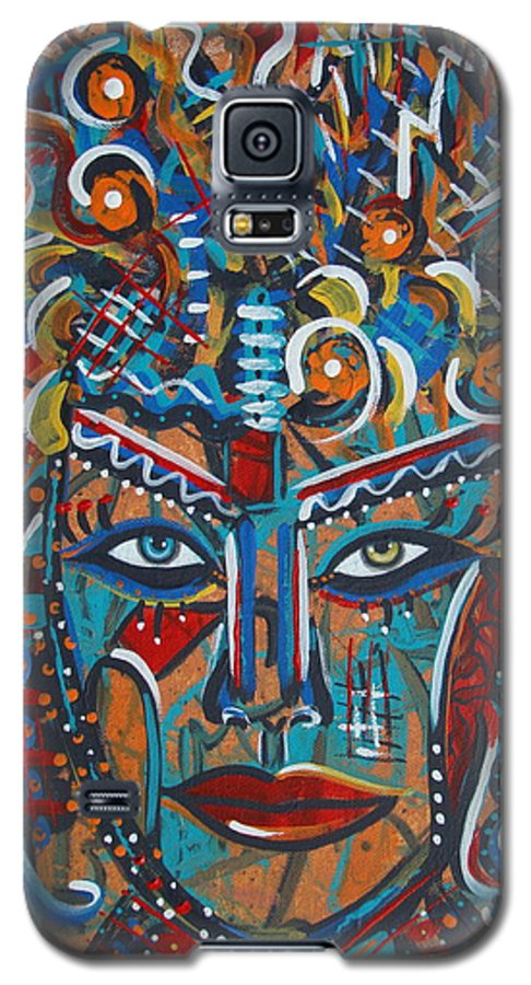 Abstract Galaxy S5 Case featuring the painting Nataliana by Natalie Holland