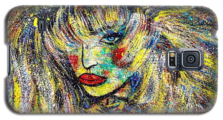 Portrait Galaxy S5 Case featuring the painting Natalya by Natalie Holland