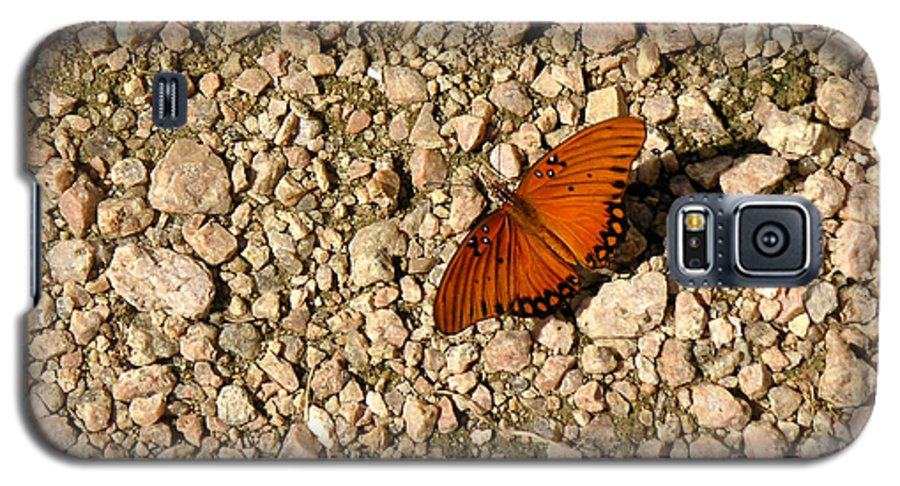 Nature Galaxy S5 Case featuring the photograph Nature In The Wild - A Splash Of Color On The Rocks by Lucyna A M Green