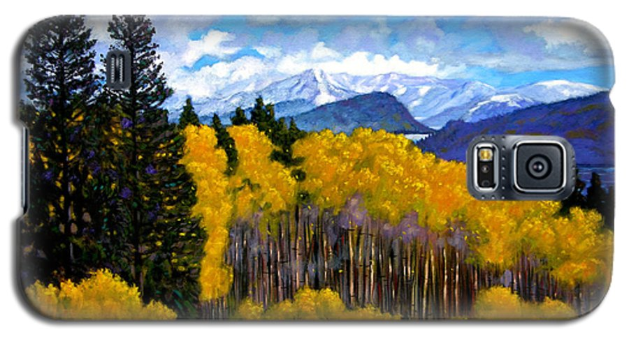 Fall Galaxy S5 Case featuring the painting Natures Patterns - Rocky Mountains by John Lautermilch