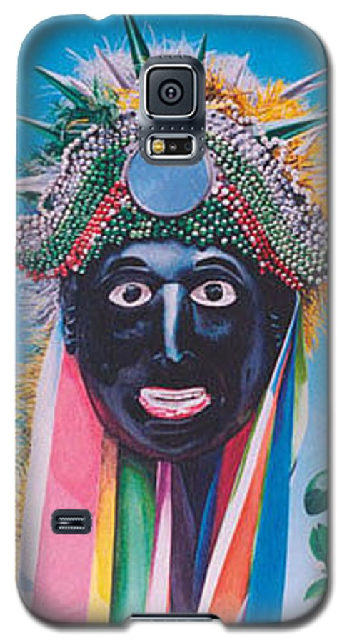 Michael Earney Galaxy S5 Case featuring the painting Negrito Y Flor De Limon by Michael Earney