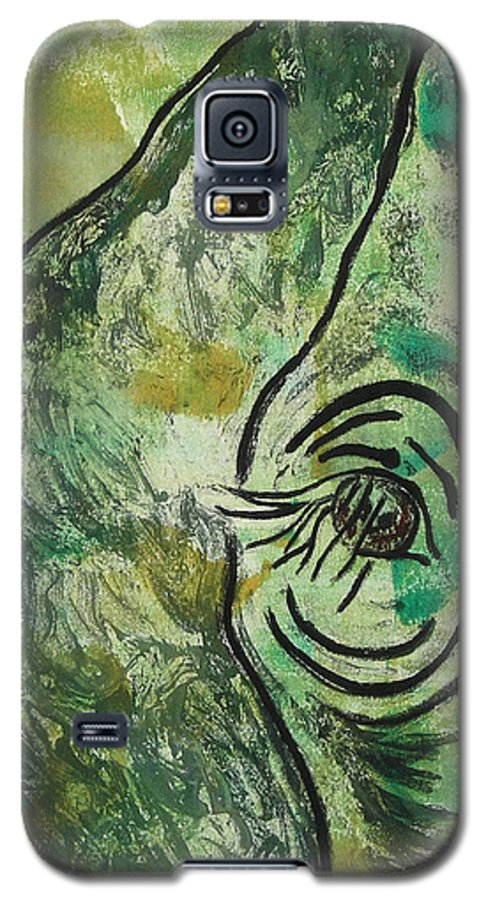 Monotype Galaxy S5 Case featuring the mixed media Never Forgotten by Cori Solomon