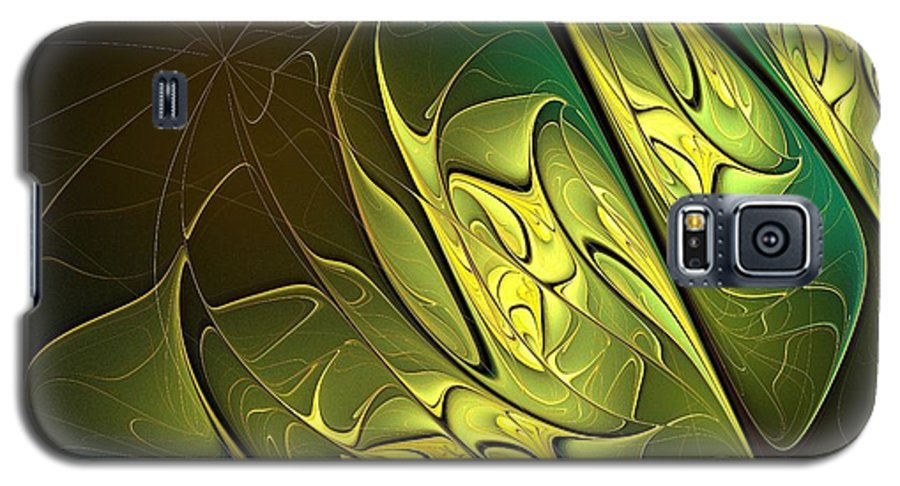 Digital Art Galaxy S5 Case featuring the digital art New Leaves by Amanda Moore