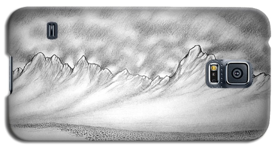 Galaxy S5 Case featuring the drawing New Mexico Passage by Marco Morales