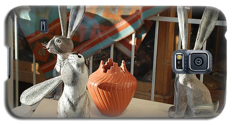 Rabbits Galaxy S5 Case featuring the photograph New Mexico Rabbits by Rob Hans