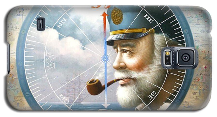 Sea Captain Galaxy S5 Case featuring the painting News Map Captain Or Sea Captain by Yoo Choong Yeul