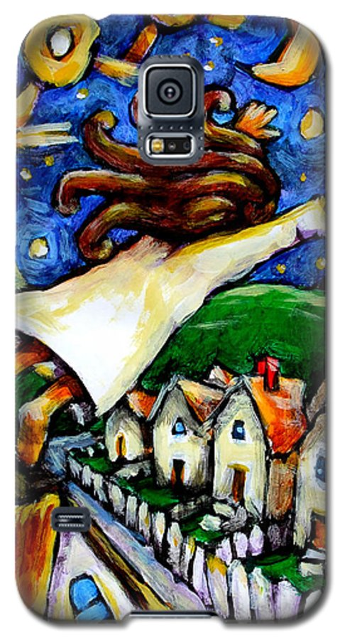 Children Galaxy S5 Case featuring the painting Night Fall by Chad Elliott