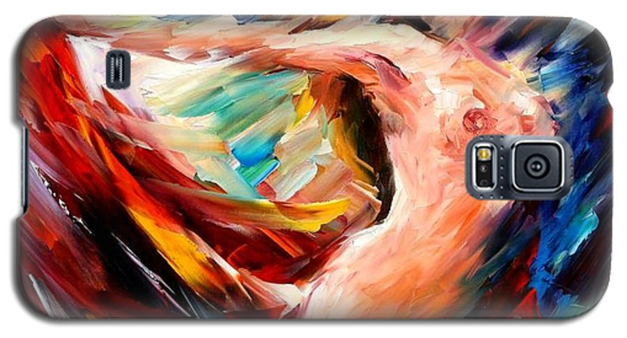 Nude Galaxy S5 Case featuring the painting Night Flight by Leonid Afremov