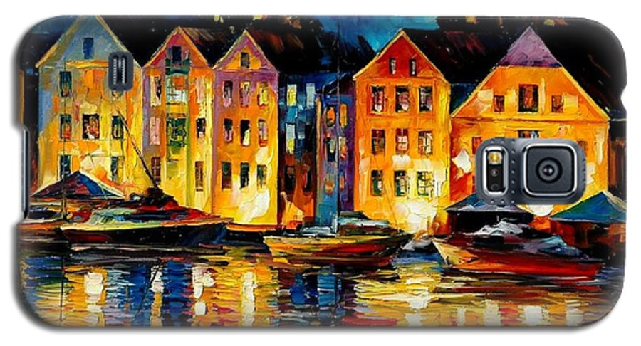 City Galaxy S5 Case featuring the painting Night Resting Original Oil Painting by Leonid Afremov