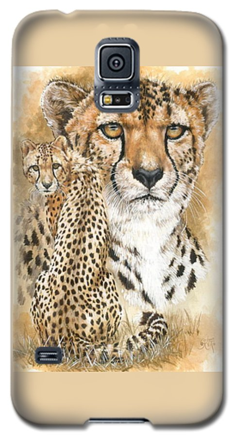 Cheetah Galaxy S5 Case featuring the mixed media Nimble by Barbara Keith