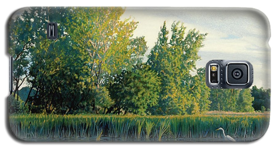 Great Egret Galaxy S5 Case featuring the drawing North Of The Grade-great Egret by Bruce Morrison