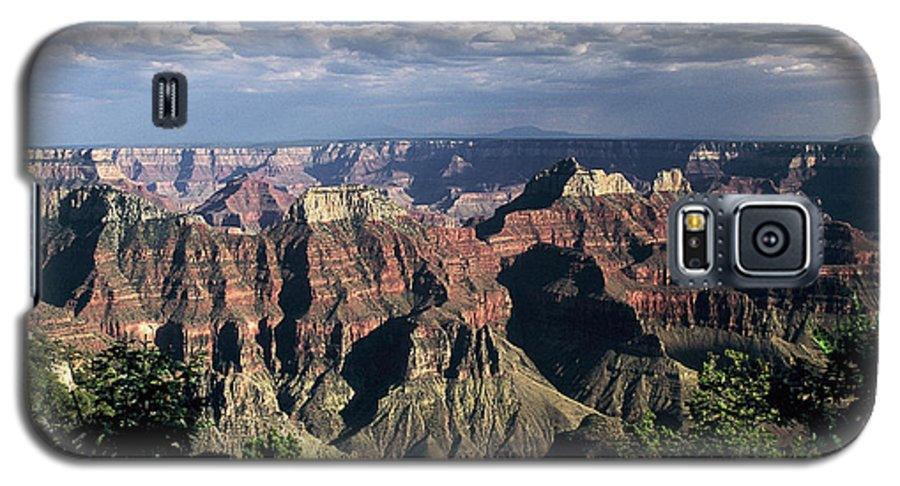 Grand Canyon; National Parks Galaxy S5 Case featuring the photograph North Rim by Kathy McClure