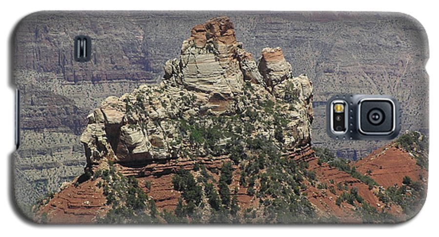 Rock Galaxy S5 Case featuring the photograph North Rim Rock by Louise Magno