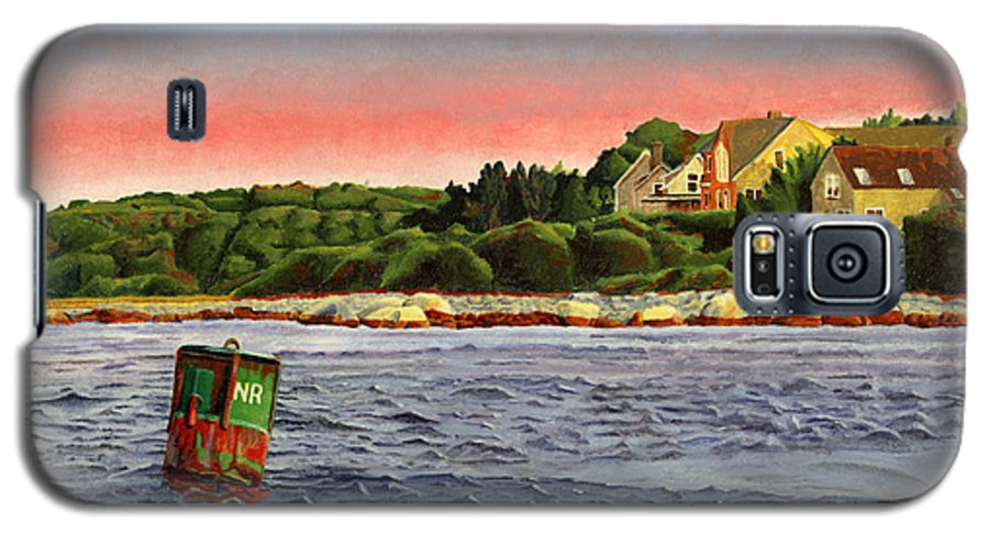 River Galaxy S5 Case featuring the painting North River At Sunset by Dominic White
