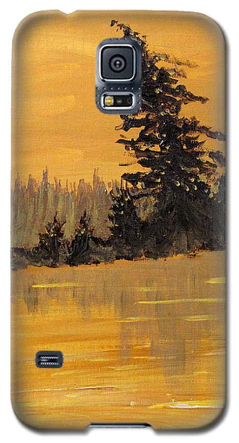 Northern Ontario Galaxy S5 Case featuring the painting Northern Ontario Three by Ian MacDonald