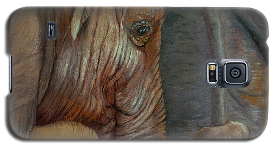 Africa Galaxy S5 Case featuring the painting Now You Hold On Tight by Ceci Watson