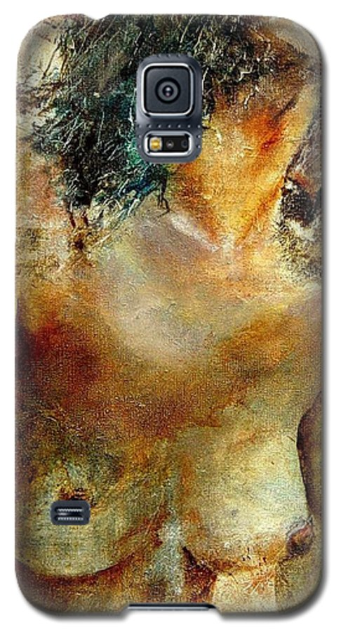 Girl Nude Galaxy S5 Case featuring the painting Nude 34 by Pol Ledent