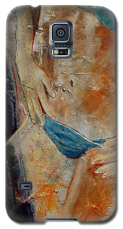 Girl Nude Galaxy S5 Case featuring the painting Nude 450608 by Pol Ledent