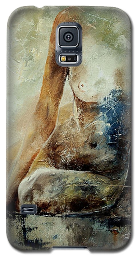 Nude Galaxy S5 Case featuring the painting Nude 560408 by Pol Ledent