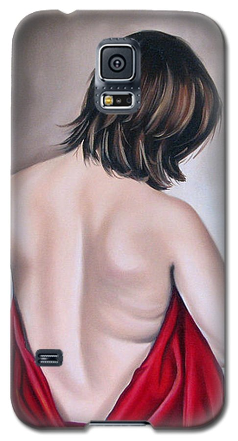 Nude Galaxy S5 Case featuring the painting Nude Hundred And One Of Seven by Ilse Kleyn