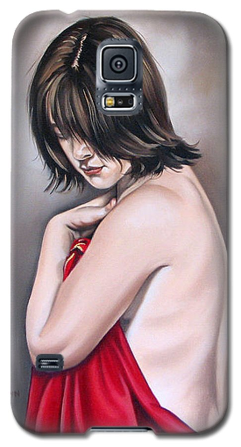 Nude Galaxy S5 Case featuring the painting Nude Hundred And Two Of Seven by Ilse Kleyn
