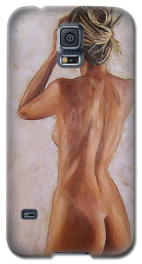 Nude Galaxy S5 Case featuring the painting Nude by Natalia Tejera