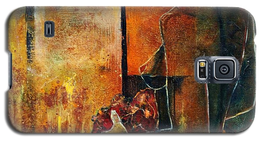 Woman Girl Fashion Nude Galaxy S5 Case featuring the painting Nude by Pol Ledent