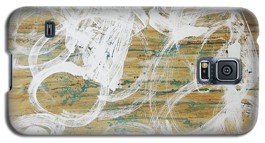 Abstract Galaxy S5 Case featuring the painting Nuevo Colores by Lauren Luna