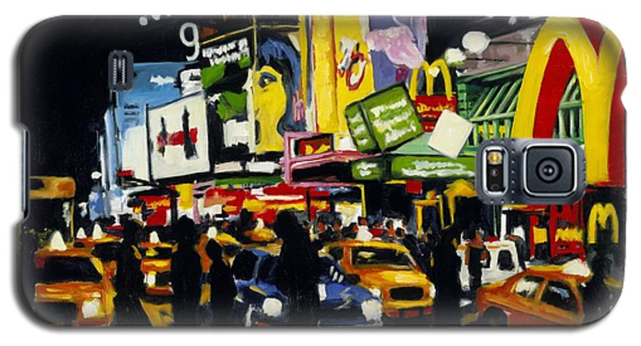 New York Galaxy S5 Case featuring the painting Nyc II The Temple Of M by Robert Reeves