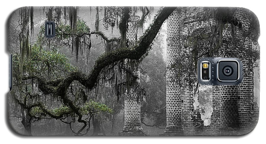 Old Sheldon Church Galaxy S5 Case featuring the photograph Oak Limb At Old Sheldon Church by Scott Hansen