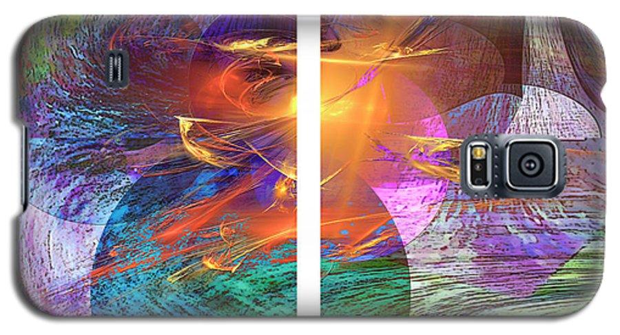 Ocean Fire Galaxy S5 Case featuring the digital art Ocean Fire by John Beck