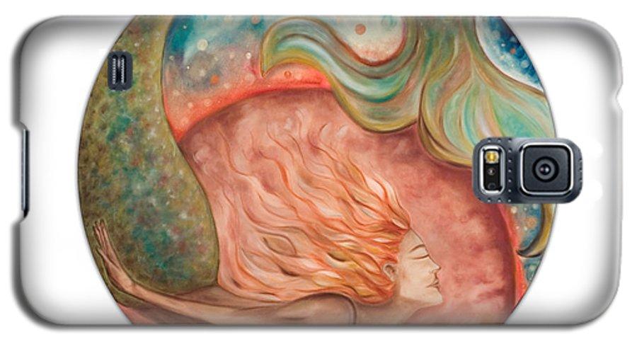 Ocean Spirit Inspiration Art Soul Spiritual Galaxy S5 Case featuring the painting Ocean Spirit by Moira Gil