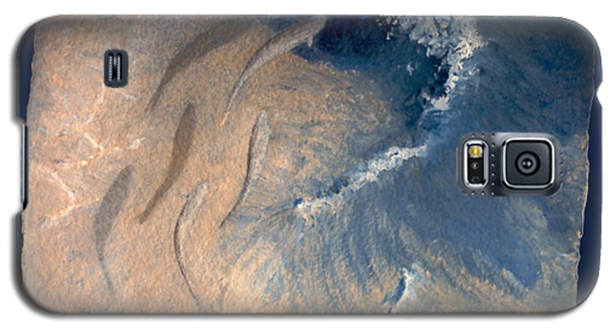 Seascape Galaxy S5 Case featuring the painting Ocean by Steve Karol
