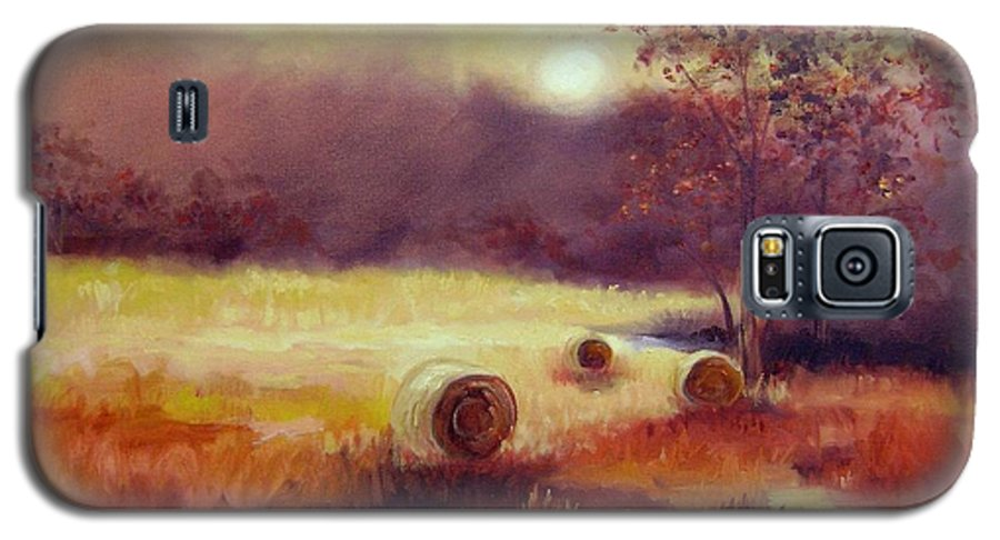 Fall Landscapes Galaxy S5 Case featuring the painting October Pasture by Ginger Concepcion