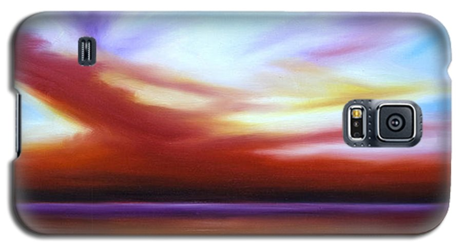 Skyscape Galaxy S5 Case featuring the painting October Sky IIi by James Christopher Hill