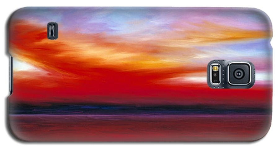 Clouds Galaxy S5 Case featuring the painting October Sky by James Christopher Hill