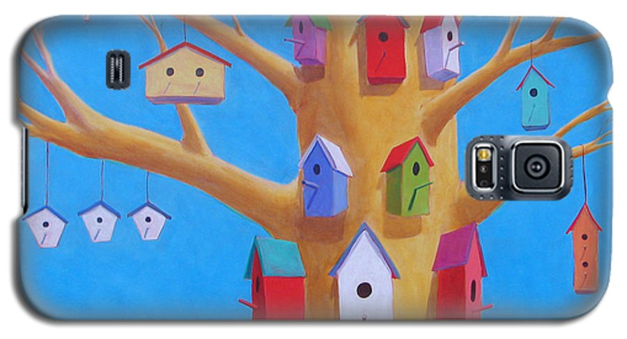 Bird House Galaxy S5 Case featuring the painting Off Season 4 by Scott Gordon