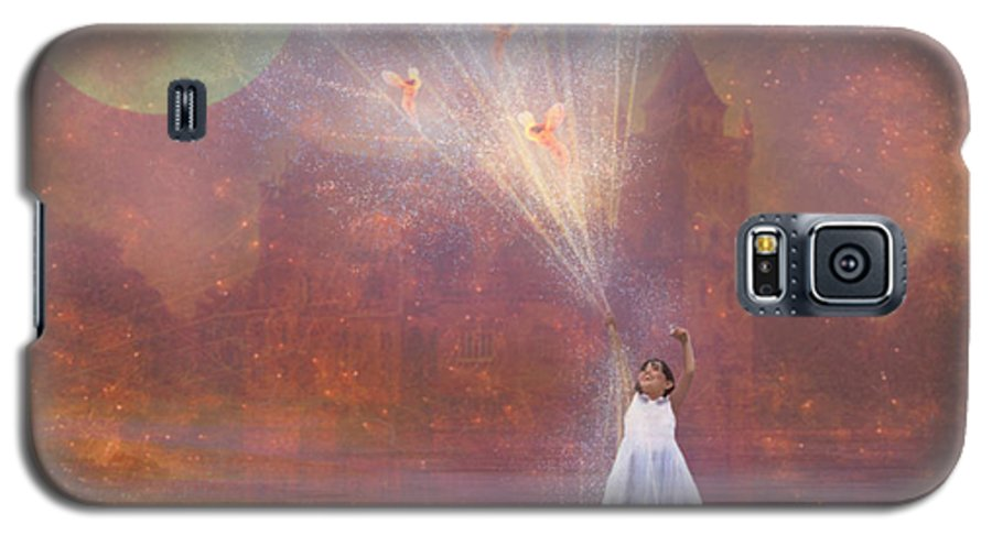Fairyland Galaxy S5 Case featuring the painting Off To Fairy Land - By Way Of Fairyloons by Carrie Jackson