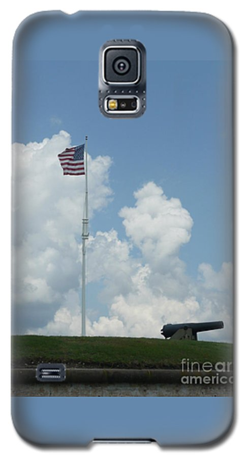 Flag Galaxy S5 Case featuring the photograph Oh Say Can You See by Barb Montanye Meseroll