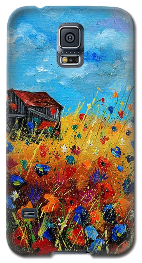 Poppies Galaxy S5 Case featuring the painting Old Barn by Pol Ledent