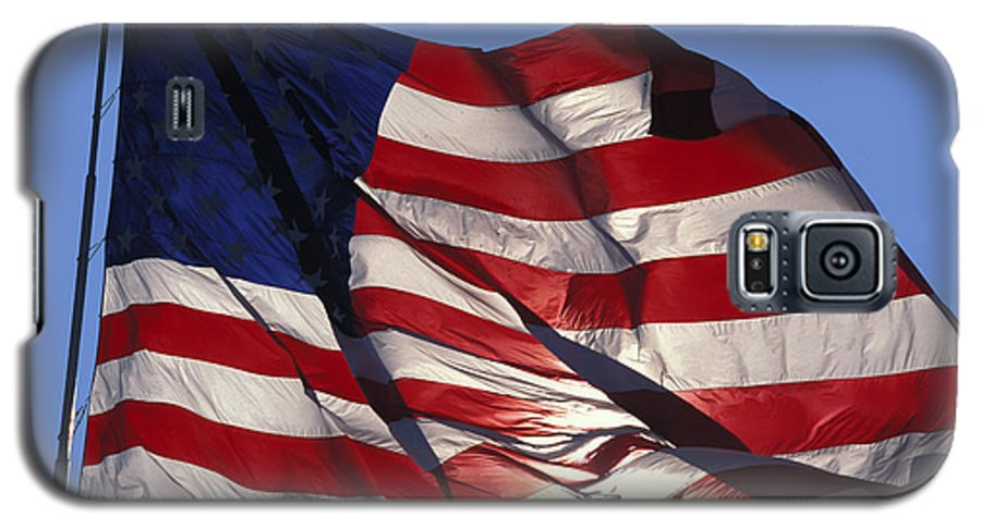 American Galaxy S5 Case featuring the photograph Old Glory by Carl Purcell