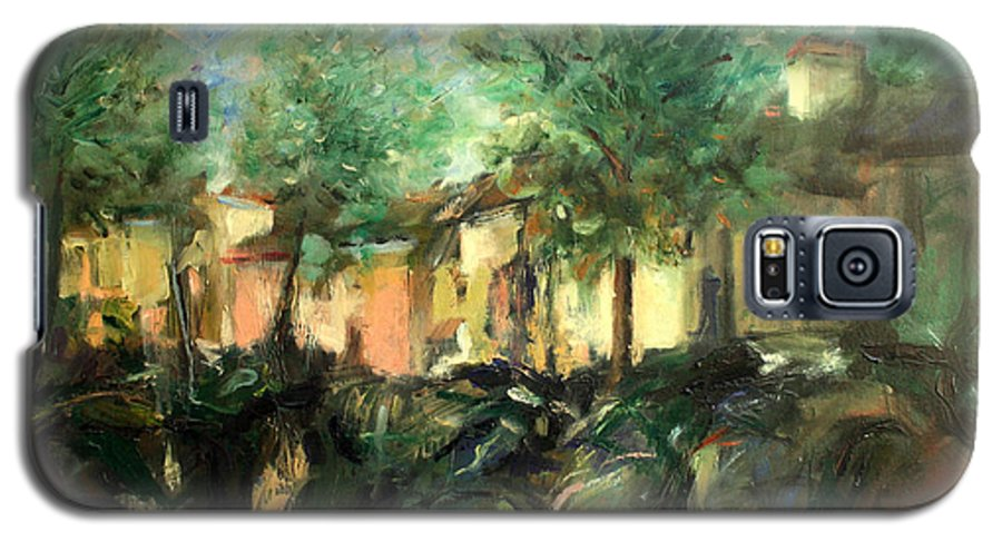 Old Houses Galaxy S5 Case featuring the painting Old Houses by Mario Zampedroni