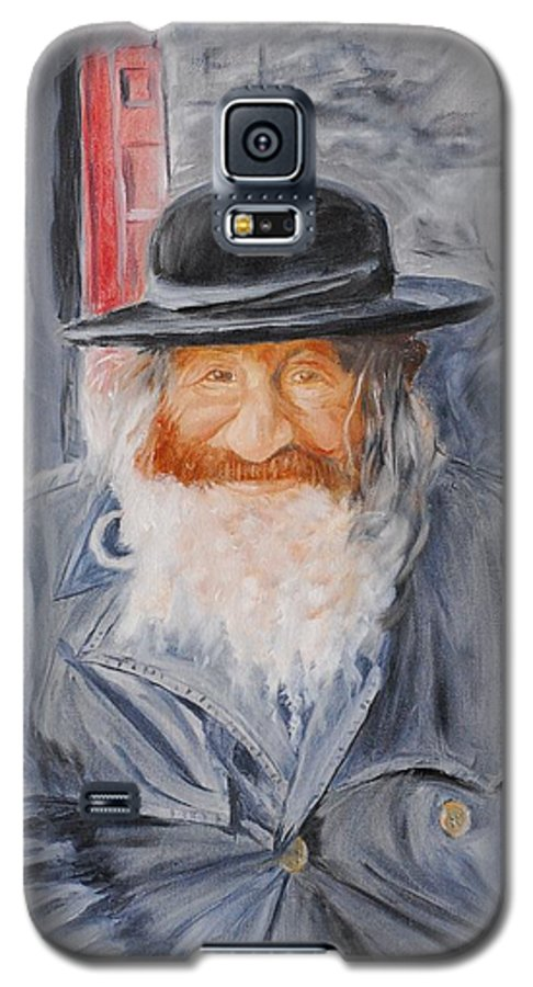 Jerusalem Galaxy S5 Case featuring the painting Old Man Of Jerusalem by Quwatha Valentine