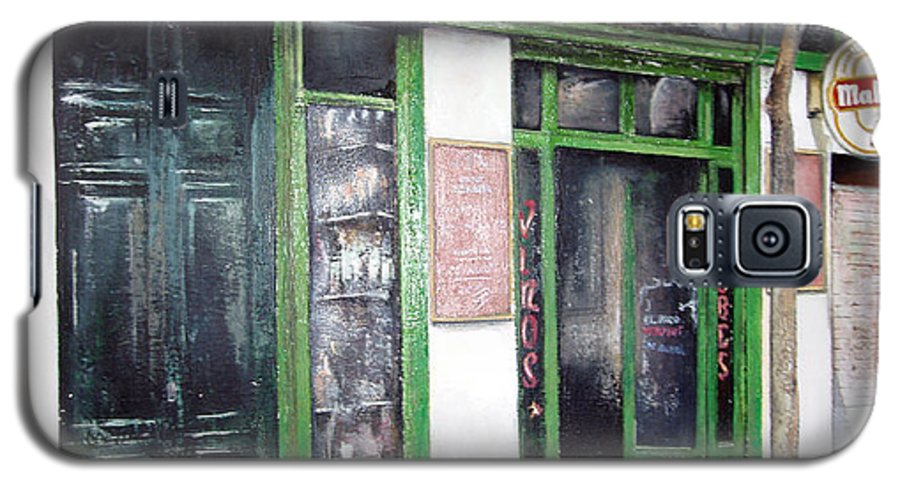 Bodegas Galaxy S5 Case featuring the painting Old Tavern-madrid by Tomas Castano