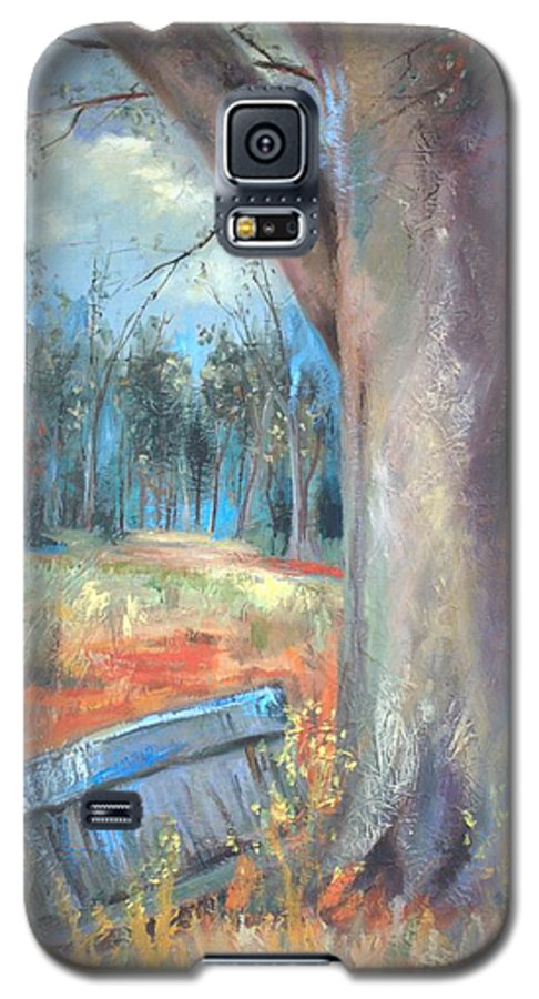 Country Scenes Galaxy S5 Case featuring the painting Old Times by Ginger Concepcion