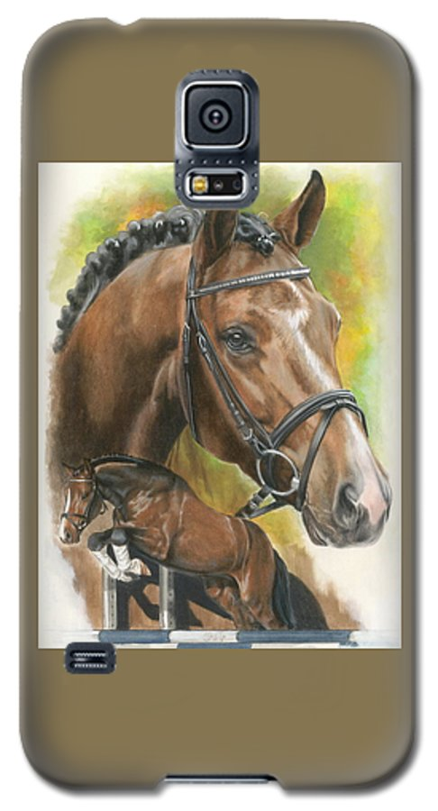 Hunter Jumper Galaxy S5 Case featuring the mixed media Oldenberg by Barbara Keith