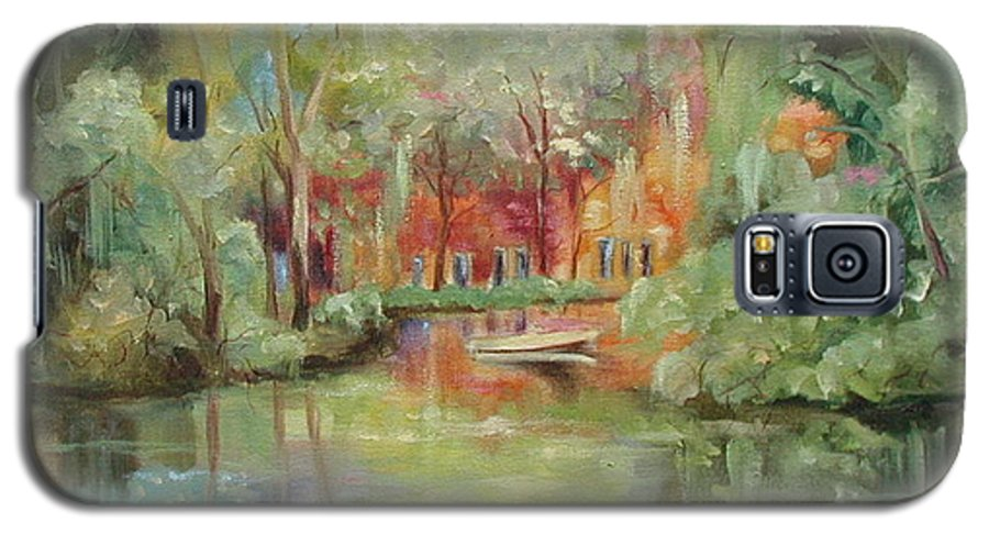 Bayou Galaxy S5 Case featuring the painting On A Bayou by Ginger Concepcion