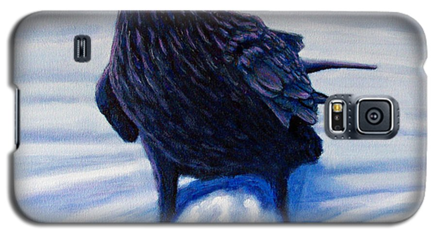 Raven Galaxy S5 Case featuring the painting On Canyon Road by Brian Commerford