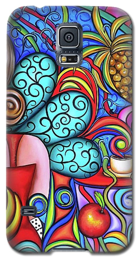 Cuba Galaxy S5 Case featuring the painting On My Mind by Annie Maxwell