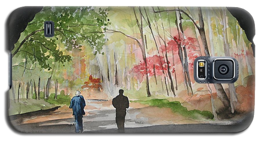 Road Galaxy S5 Case featuring the painting On The Road To Nowhere by Jean Blackmer